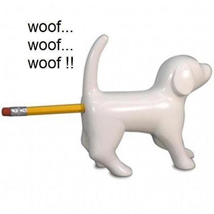Dog Bum Pencil Sharpener