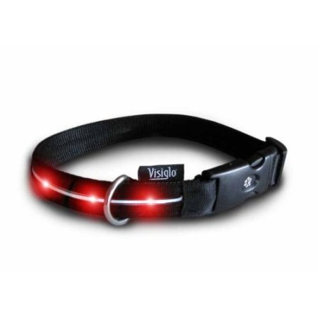 Red LED Visiglo Lighted Dog Collar
